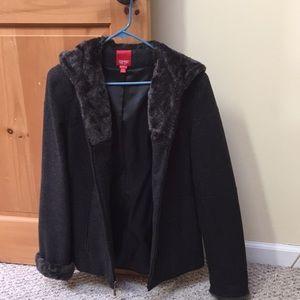 Esprit wool coat size small gray